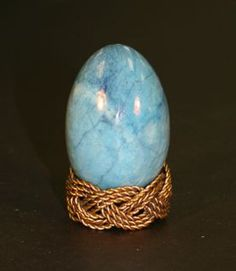 Sky Blue Granite Egg