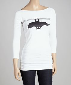 Look at this Citi Life White Bat Boatneck Tee on #zulily today!