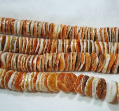 """Natural Orange White Spiny Oyster Shell 14mm Heishi Beads 12"""" Jewelry Crafts"""