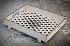 laser cut bottom of a tray