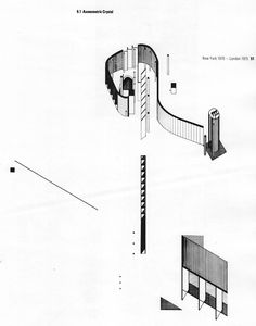 Daniel Libeskind - Axonometric Crystal, New York 1970 - London 1975 Architecture Concept Drawings, Architecture Graphics, Chinese Architecture, Modern Architecture House, Futuristic Architecture, Landscape Architecture, Modern Houses, Daniel Libeskind, Le Corbusier