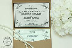 Western Wedding Invitation - Style 12. $1.25, via Etsy.