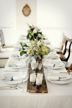Wedding Table Runner Ideas--Wooden Planks