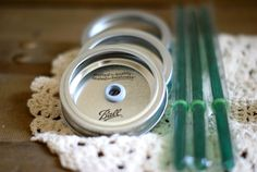 Canning Jar Drink Lids and Straws  Mason Jar by PoppyandPearlCo, $12.00