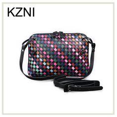 KZNI messenger bag men leather small bags for girls genuine leather bags women bag chain bolsa feminina de marca famosa Z031618