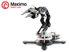 Get your own arduino robotic arm right there on your desktop! Maximo Arduino-driven, 5-axis Robot Arm.