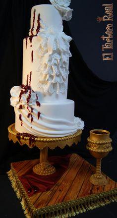 """Eternity"" My Penny Dreadfull Cake Collaboration by El Tartero Real - http://cakesdecor.com/cakes/215033-eternity-my-penny-dreadfull-cake-collaboration"