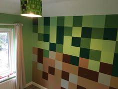 Minecraft Room Decor, Minecraft Decoration, Minecraft Bedroom, Minecraft Crafts, Minecraft Furniture, Lego Bedroom, Kids Bedroom, Mario Room, Fuse Beads