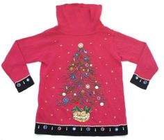 Vintage 90s Pink Knit Christmas Sweater With by SycamoreVintage, $29.00