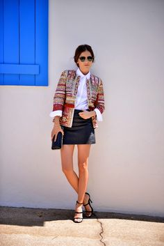 Zara embroidered jacket / chanel - blankitinerary blogger