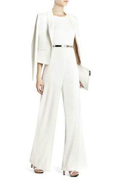 f42742b96973 NEW BCBG MAXAZIA Off White Helena Sleeveless Jumpsuit  248.00