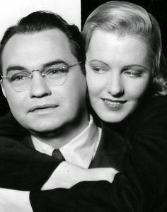 "Edward G. Robinson, Jean Arthur in ""The Whole Town's Talking"" (1935). Director: John Ford."