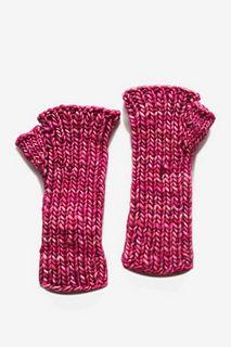 Super Malabrigo Mecha Hand Warmers - color english rose - ravelry project