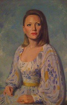 """""""Paul Fitzgerald"""" Famous Australian (Portrait Painter) Realist Artist. Queen Elizabeth II Pope XXIII: Portrait of Marisa Fitzgerald and Jodie Harrison b..."""