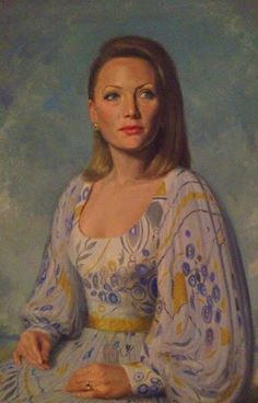 """""""Paul Fitzgerald"""" Famous Australian (Portrait Painter) Realist Artist. Queen Elizabeth II Pope XXIII: Portrait of Marisa Fitzgerald by Paul Fitzgerald b..."""
