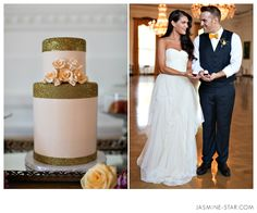 just LOVE this dress. and the cake is spot on! - Nixon Library Wedding : Hipster Hollywood - Jasmine Star Photography Blog