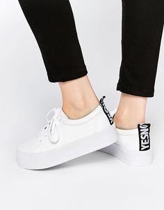 ASOS DACRE Lace Up Flatform Sneakers