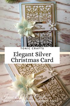 Silver Christmas, Christmas Cards, Craft Kits, Studios, Merry, Gift Wrapping, Magazine, Elegant, Projects