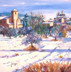 Jean Marc Janiaczyk 1966   French Realist/Impressionist Knife painter   Dreaming of Provence
