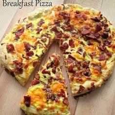 Easy Homemade Bacon Cheddar Breakfast Pizza 1