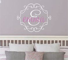 Name Wall Decal Baby Girl Nursery Vinyl Monogram by FineArtDecals, $19.90