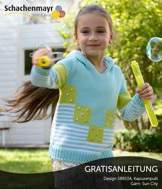 S8913A - Frecher Mädchenpulli aus Schachenmayr #SunCityWolle, Gratisanleitung