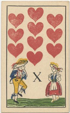 10♥ Deck: Germany bild. Russia. Made: The Colour Printing Plant. Date: 1840.
