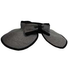 091699505ba Roll Up Sun Visor Hat with Bow by Milani