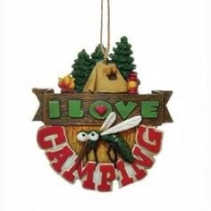 I Love Camping Christmas Ornament