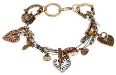 Joy, Hope Love Charm Bracelet