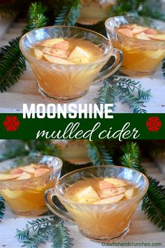 A hot mulled cider recipe with a southern twist! Perfect for holiday parties