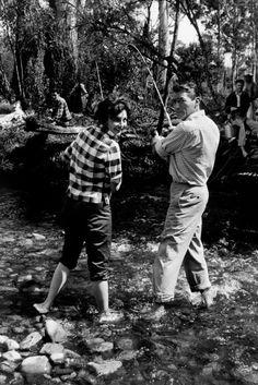 #BehindTheScenes | Preparando 'El gran pescador' - Gregory Peck y Ava Gardner www.beewatcher.es