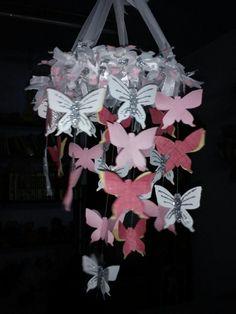 A dreamy butterfly chandelier