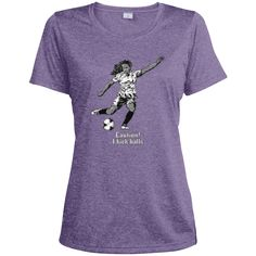 Do you love soccer? You're going to love our T-shirts!  Passion for Soccer - Ladies Heather Dri-Fit Moisture-Wicking Tee - $22.99