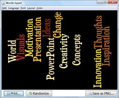 Creating #Word-Clouds for PowerPoint using #Wordle