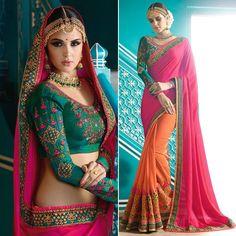 #Saree Blouse #Designer Sari Silk #Indian Party Bollywood Wedding Ethnic New Dress #Handmade #saree