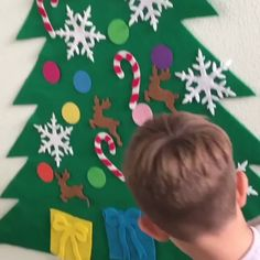 DIY felt christmas tree/snowman(Best Gift For Children.) - Why choose our DIY Christmas Tree? HIGH QUALITY— Made of high quality felt fabric, not harmful f - Diy Felt Christmas Tree, Christmas Trees For Kids, Christmas Decorations, Christmas Ornaments, Christmas Christmas, Christmas Videos, Dough Ornaments, Crochet Ornaments, Crochet Snowflakes