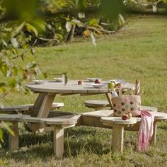 Heavy Duty Large Round Picnic Table Seat Mm Timbers From - Large round picnic table