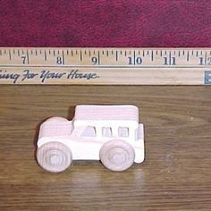 Handcrafted Wood Toy SUV 60AH-U unfunished or finished  by VMWoodFactree for $1.85