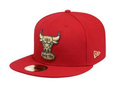 73b80033e0b Chicago Bulls Gold-Scarlet 59Fifty Fitted Baseball Cap by NEW ERA x NBA  Jordan Baseball