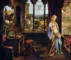 The Lady of Shalott William Maw Egley - 1858