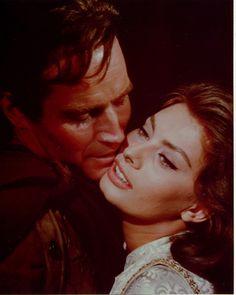 Charlton Heston & Sophia Loren