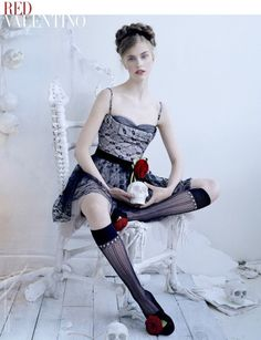Hedvig Palm by Tim Walker for Red Valentino Campaign FW 2013-2014