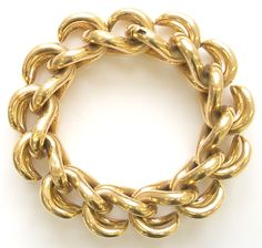 A chic 18k yellow gold link bracelet by Van Cleef and Arpels. Description from 1stdibs.com. I searched for this on bing.com/images