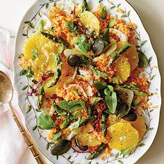 Asparagus, Orange, and Lentil Salad - Southern Living