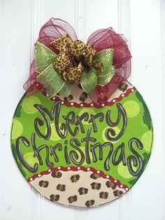 Cheetah Ornament Door Hanger Bronwyn Hanahan by BronwynHanahanArt