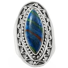 Rainbow Calsilica 925 Sterling Silver Ring Jewelry s.6.5 RBCR600