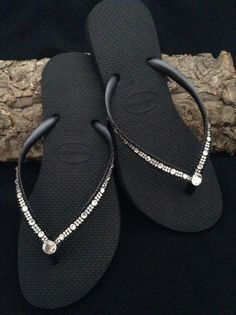 4e2ace44d9454f Havaianas Slim Flip Flops w  Swarovski Bling Crystal Full Moon Rhinestone  Bling sandal Bridal Wedding Custom Glass Slippers Beach Thong Shoe