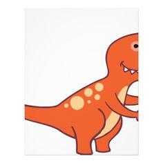 Tyrannosaurus Rex Letterhead Custom office supplies #business #logo #branding