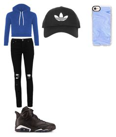 """""""My blue and black look I wore today"""" by xxkhaliciaxx on Polyvore featuring Topshop, Casetify and Boohoo"""